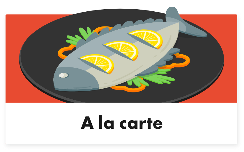 A la carte - Tabletmenukaart - Digitale menukaart
