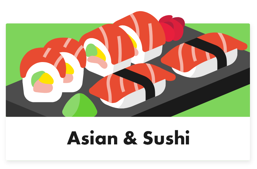 Asian & sushi - Tabletmenukaart - Digitale menukaart