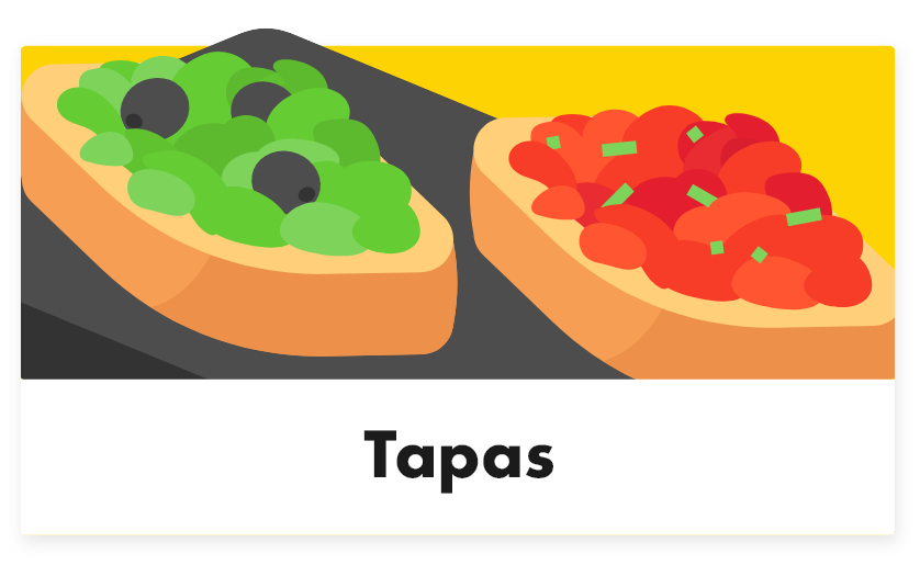 Tapas - Tabletmenukaart - Digitale menukaart