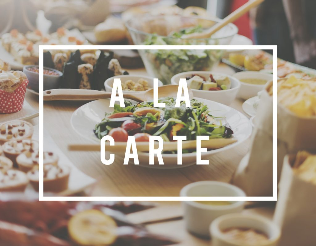 a la carte - tabletmenukaart